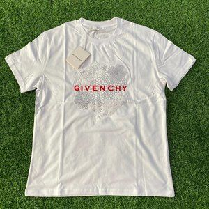 "Givenchy Men Chest Embroidery White T-Shirt ""L"""